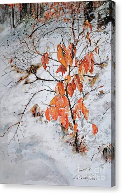 Winter Ash Canvas Print