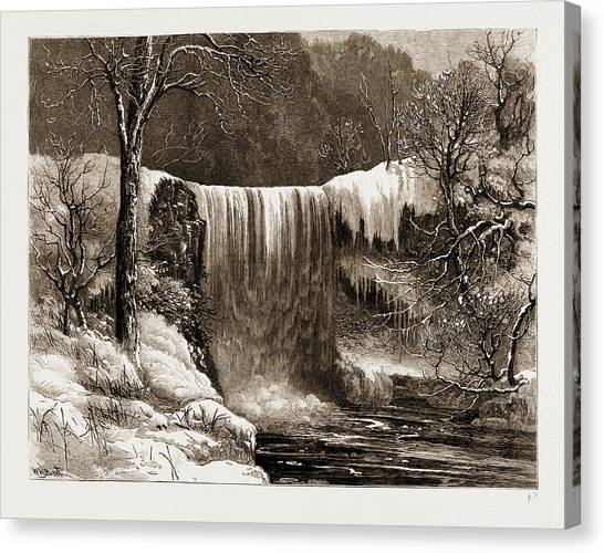 Aspect Canvas Print - Winter Aspect Of The Falls Of Minnehaha, Minnesota by Litz Collection