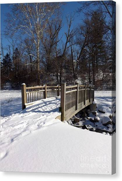 Winter At Creekside Canvas Print