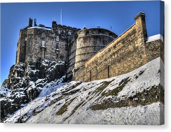 Winter At Edinburgh Castle Canvas Print
