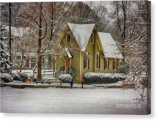 Winter At Lake Afton Canvas Print