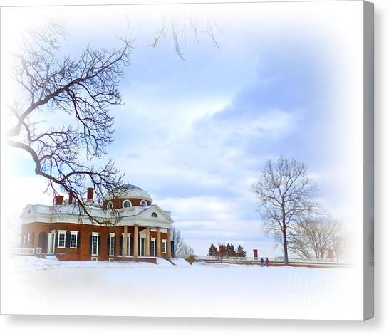 Winter At Monticello Canvas Print