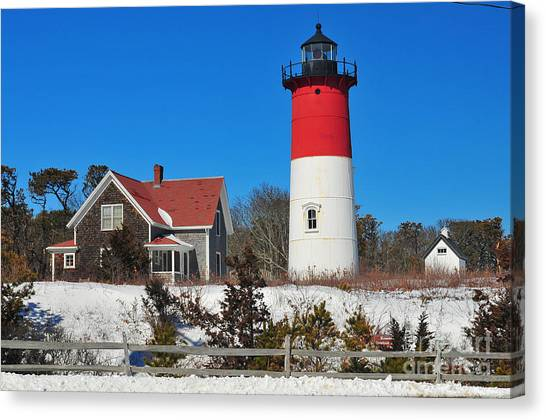 Catherine Reusch Daley Fine Artist Canvas Print - Winter At Nauset by Catherine Reusch Daley