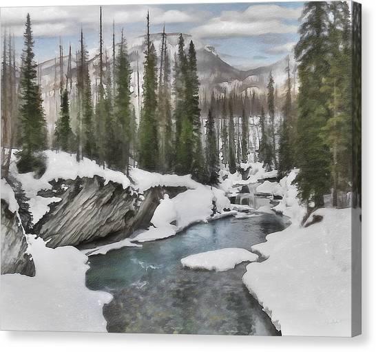 Winter At Verdant Creek Canvas Print