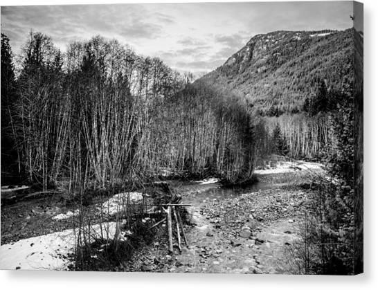 Winter Backroads Englishman River Canvas Print
