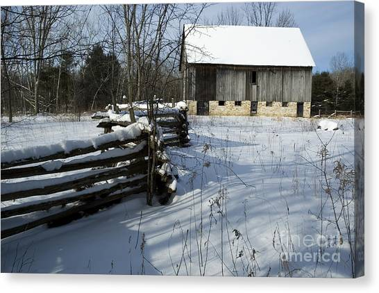 Winter Barn I Canvas Print