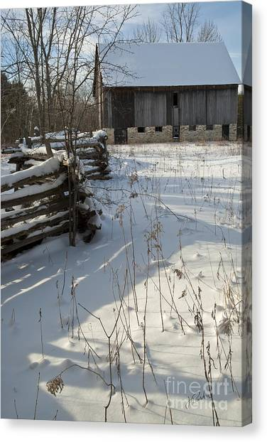 Winter Barn II Canvas Print
