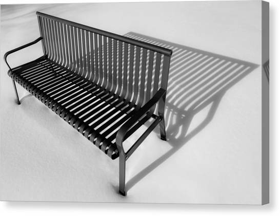 Winter Bench Canvas Print
