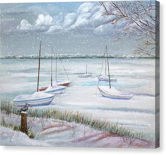Winter Blue Canvas Print by Dorothy Riley