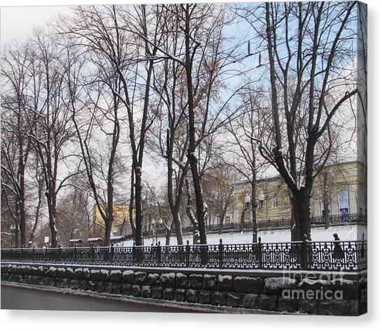 Moscow Skyline Canvas Print - Winter Boulevard by Anna Yurasovsky