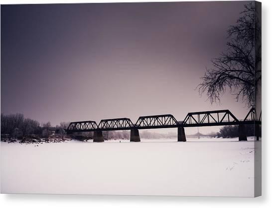 Manitoba Canvas Print - Winter Bridge by Bryan Scott