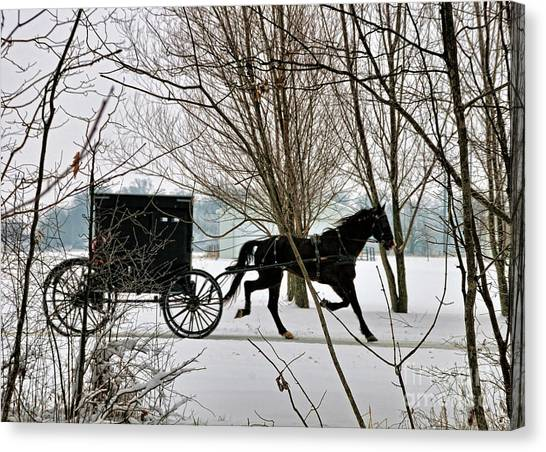 Winter Buggy Canvas Print