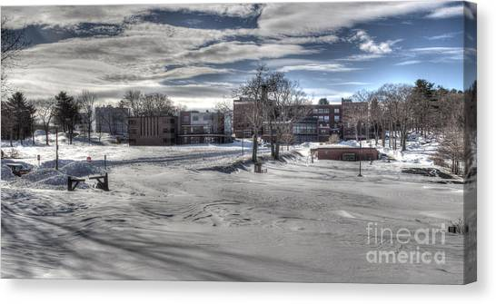 Winter Campus Canvas Print