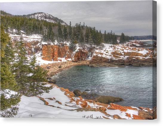 Winter Cove Canvas Print by Robert Saccomanno