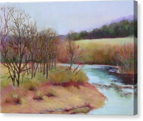 Winter Creek                  Copyrighted Canvas Print by Kathleen Hoekstra