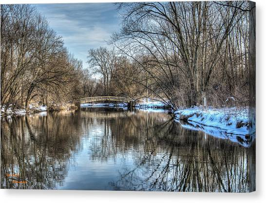 Winter Creek Canvas Print by Dan Crosby