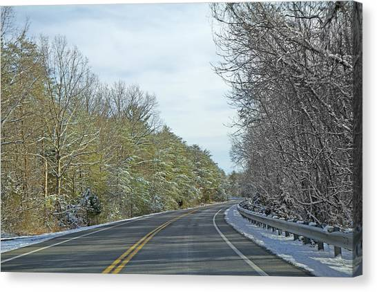 Country Roads Canvas Print - Winter Cruise by Betsy Knapp