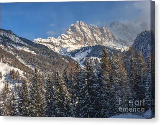 Dolomites Canvas Print - Winter Dolomites by Martin Capek