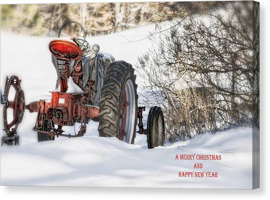 Winter Downtime Christmas Card Canvas Print