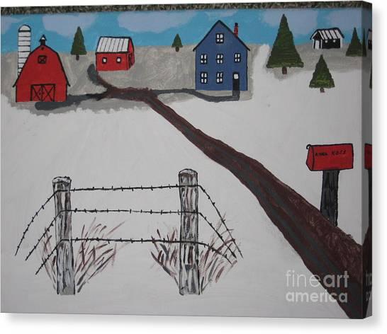 Canvas Print - Winter Farm by Jeffrey Koss