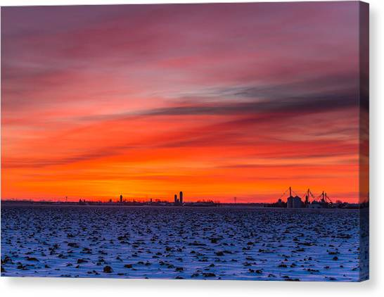 Winter Farmland Canvas Print