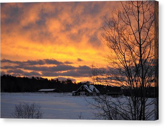 Winter Fire Canvas Print