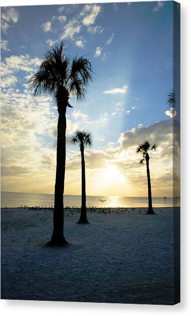 Canvas Print featuring the photograph Winter Florida Sunset by Beverly Stapleton