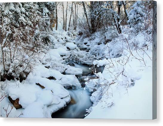 Winter Flow Canvas Print by Darryl Wilkinson