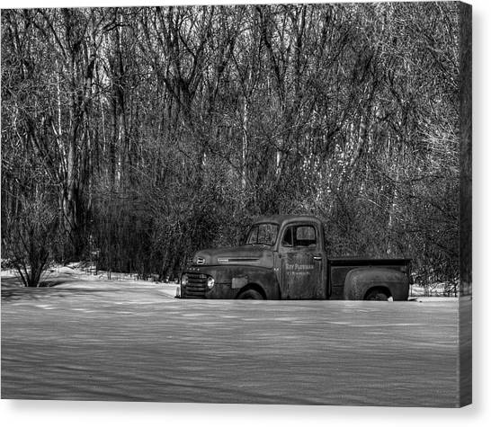 Winter Ford Truck 1 Canvas Print