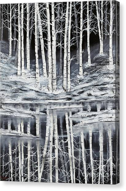 Winter Forest Canvas Print by Premierlight Images