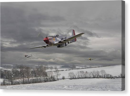 Air Force Canvas Print - Winter Freedom by Pat Speirs