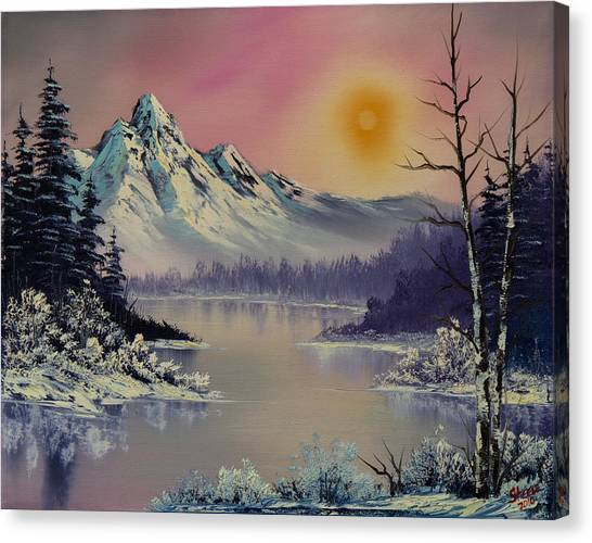 Bob Ross Canvas Print - Morning Frost by Chris Steele