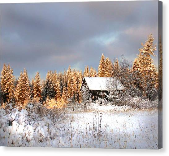 Winter Glow Canvas Print by Doug Fredericks