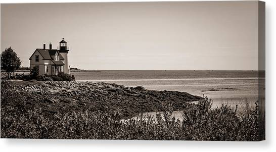 Winter Harbor Lighthouse Canvas Print
