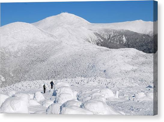 Winter Hike In The Southern Presidential Range Canvas Print