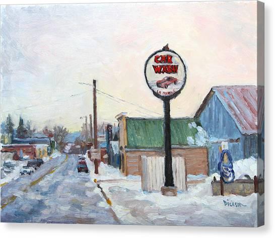 Winter In La Farge Canvas Print