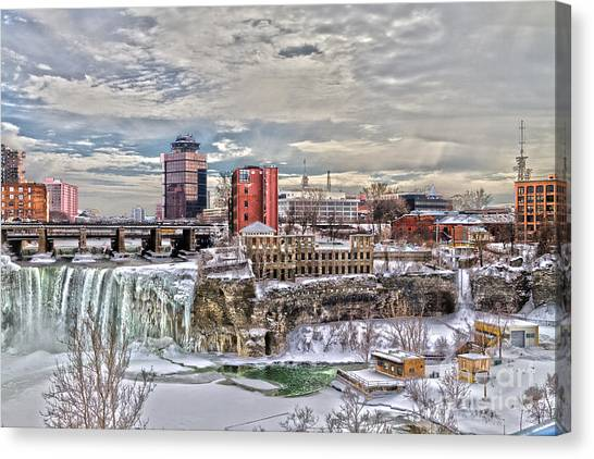 Winter In Rochester Canvas Print
