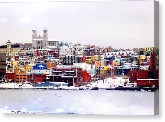 Winter In St. John's Canvas Print