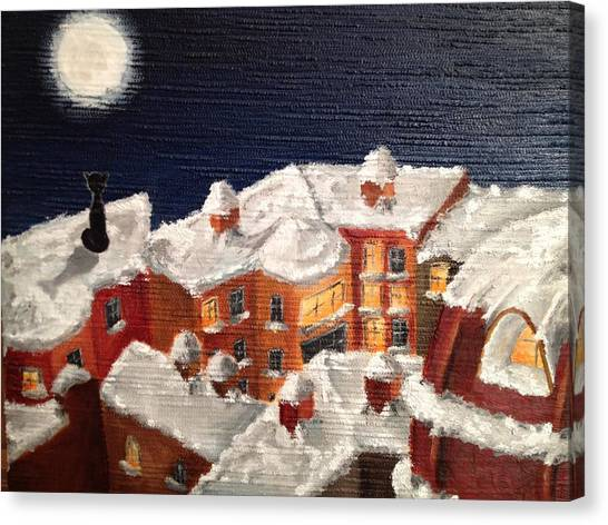 Winter In St Petersburg Canvas Print by Margarita Gokun