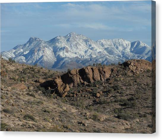Winter In The  Mohave Desert Canvas Print