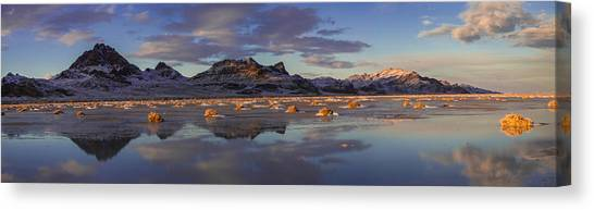 Desert Sunsets Canvas Print - Winter In The Salt Flats by Chad Dutson