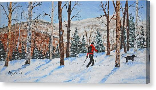 Winter In Vermont Woods Canvas Print