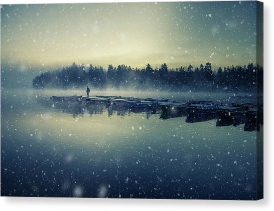 Winter Canvas Print - Winter Is Coming. by Mika Suutari