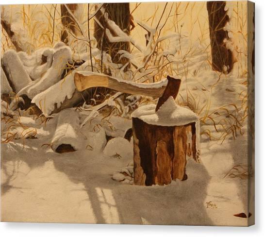 Winter Labour Canvas Print