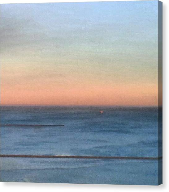 Lake Sunsets Canvas Print - Winter Lake At Sunset by Jill Tuinier