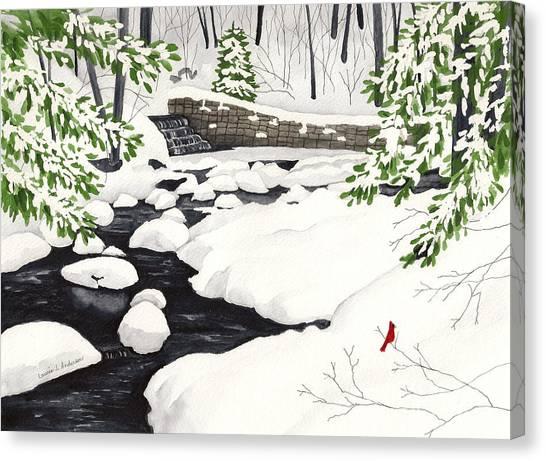 Winter Landscape - Mill Creek Park Canvas Print