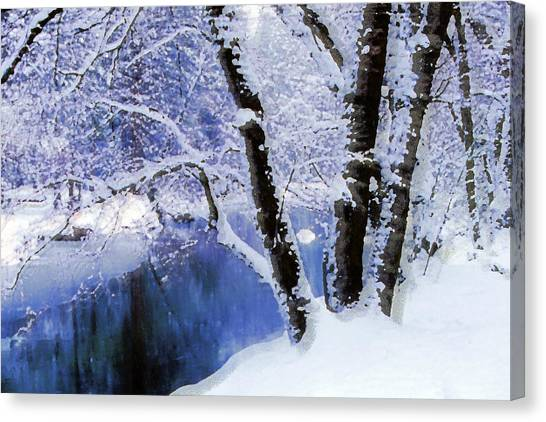 Winter Landscape Yosemite Valley Canvas Print