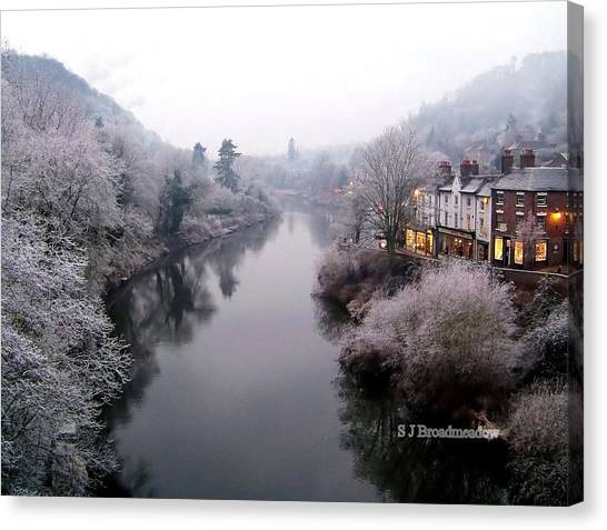 Winter Lights In Ironbridge Canvas Print