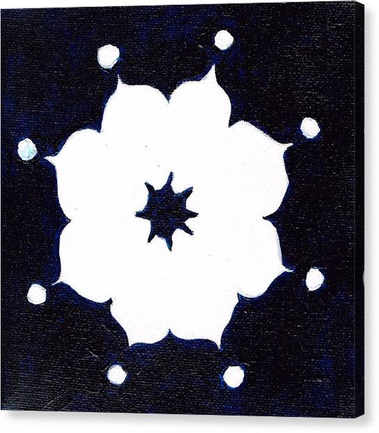 Winter Mandala Canvas Print