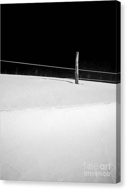 Stark Canvas Print - Winter Minimalism Black And White by Edward Fielding